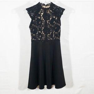 [Altar'd State] LBD Black Lace Fit & Flare Dress S